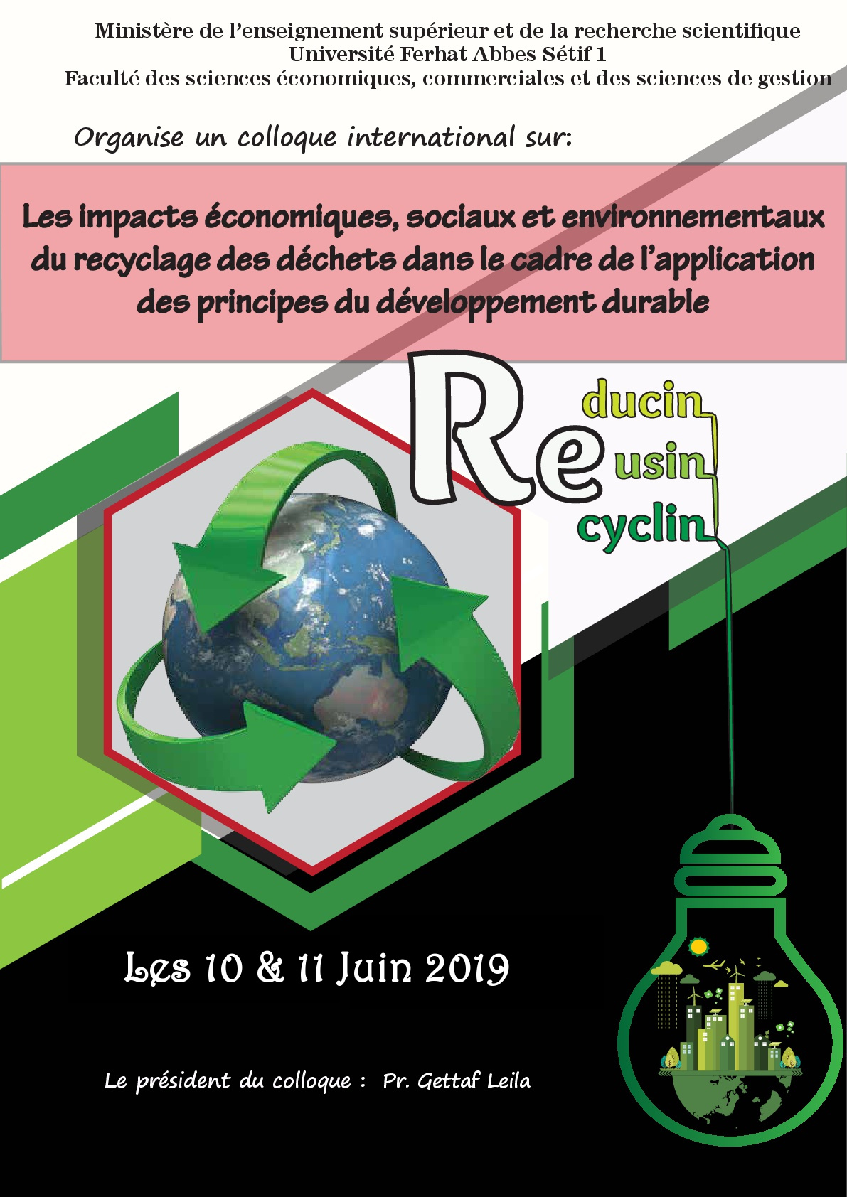 appel communication colloque recyclage 2019