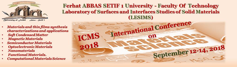 ملتقى دولي حول علم المواد ICMS2018