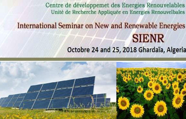 Call for papers: International Seminar on New and Renewable Energies – SIENR'2018