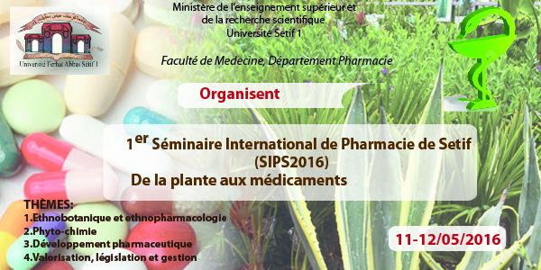SEMINAIRE INTERNATIONAL PHARMACIE